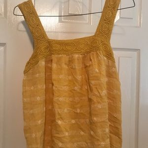 Yellow Patterned Tank Top